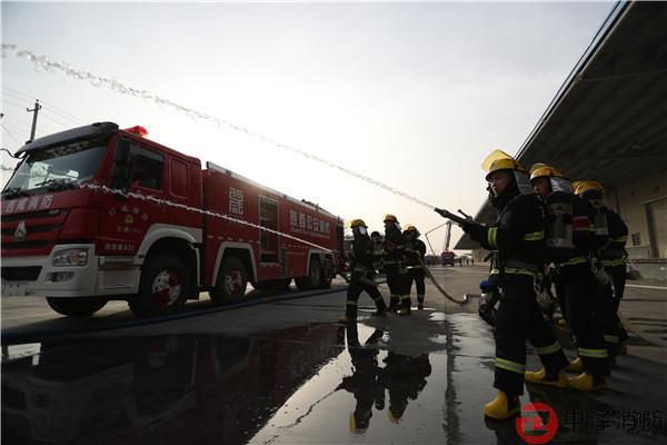 陕西消防总队实战演习